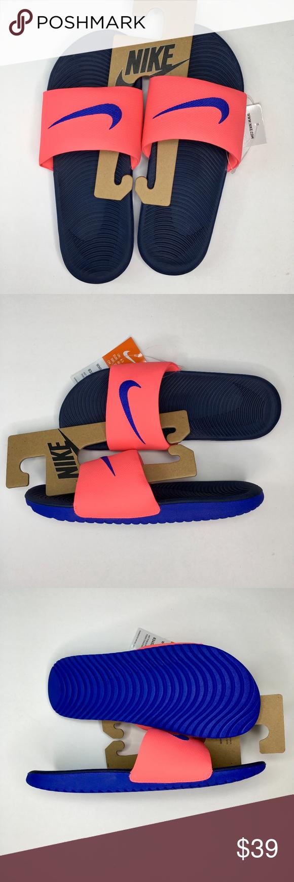 8ff4ee6f869f Nike Hot Punch Paramount Blue Kawa Slide Sandals Nike Women s Hot Punch  Paramount Blue Kawa Slide
