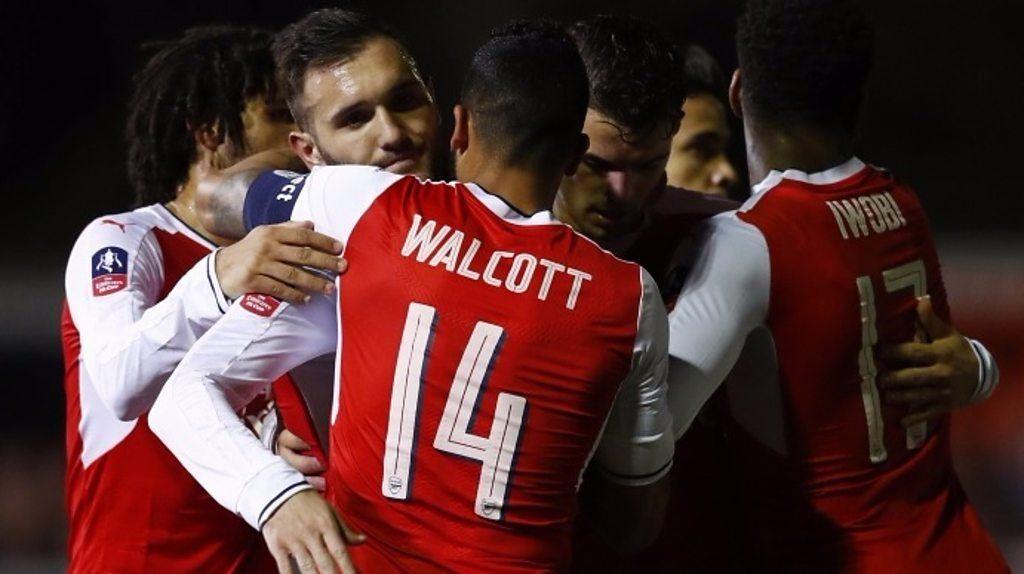 Perez puts Arsenal ahead against Sutton Fa cup, Arsenal