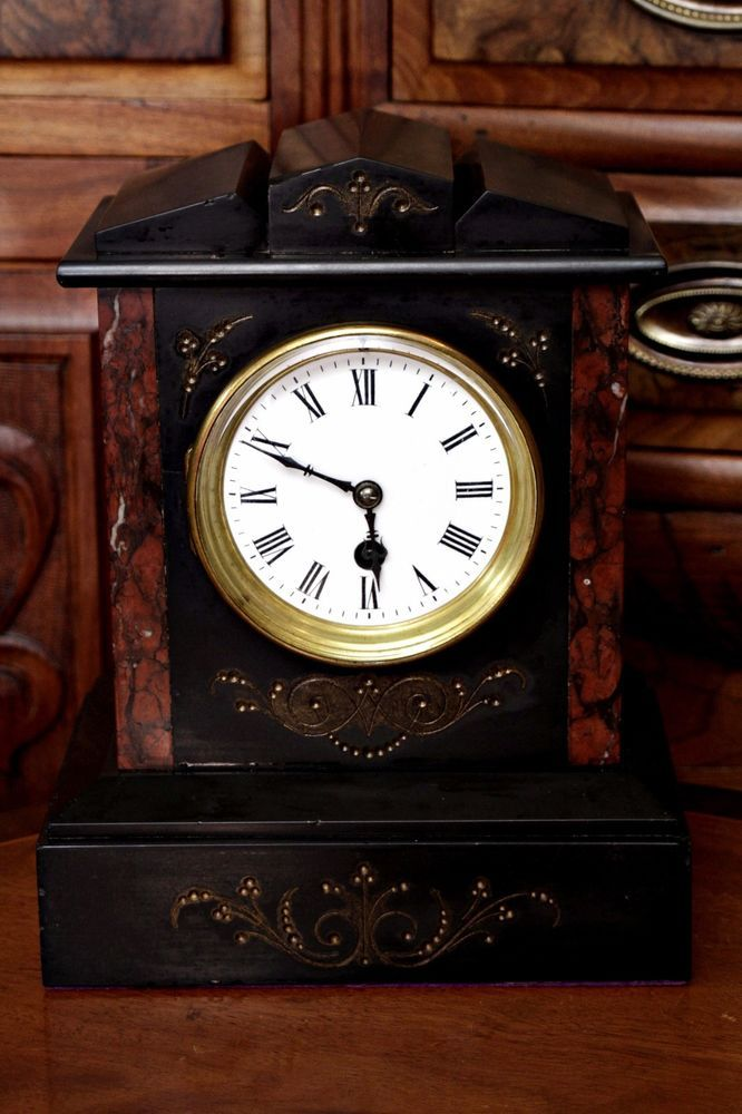 Antique German Gustav Becker 8 Day Marble Mantel Clock