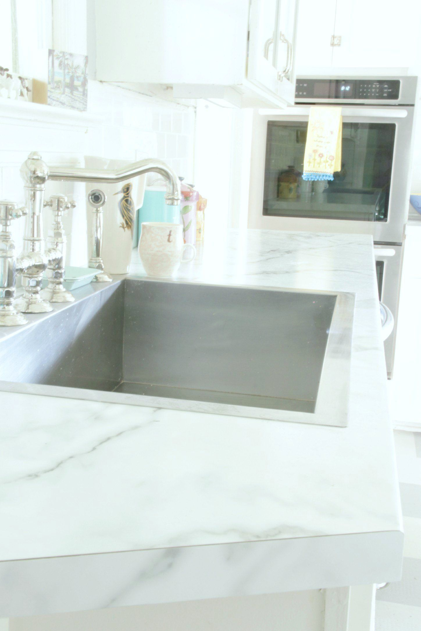 THE KITCHEN MAKEOVER AND FORMICA MARBLE REVISITED | Marble countertops. Replacing kitchen countertops. Kitchen makeover