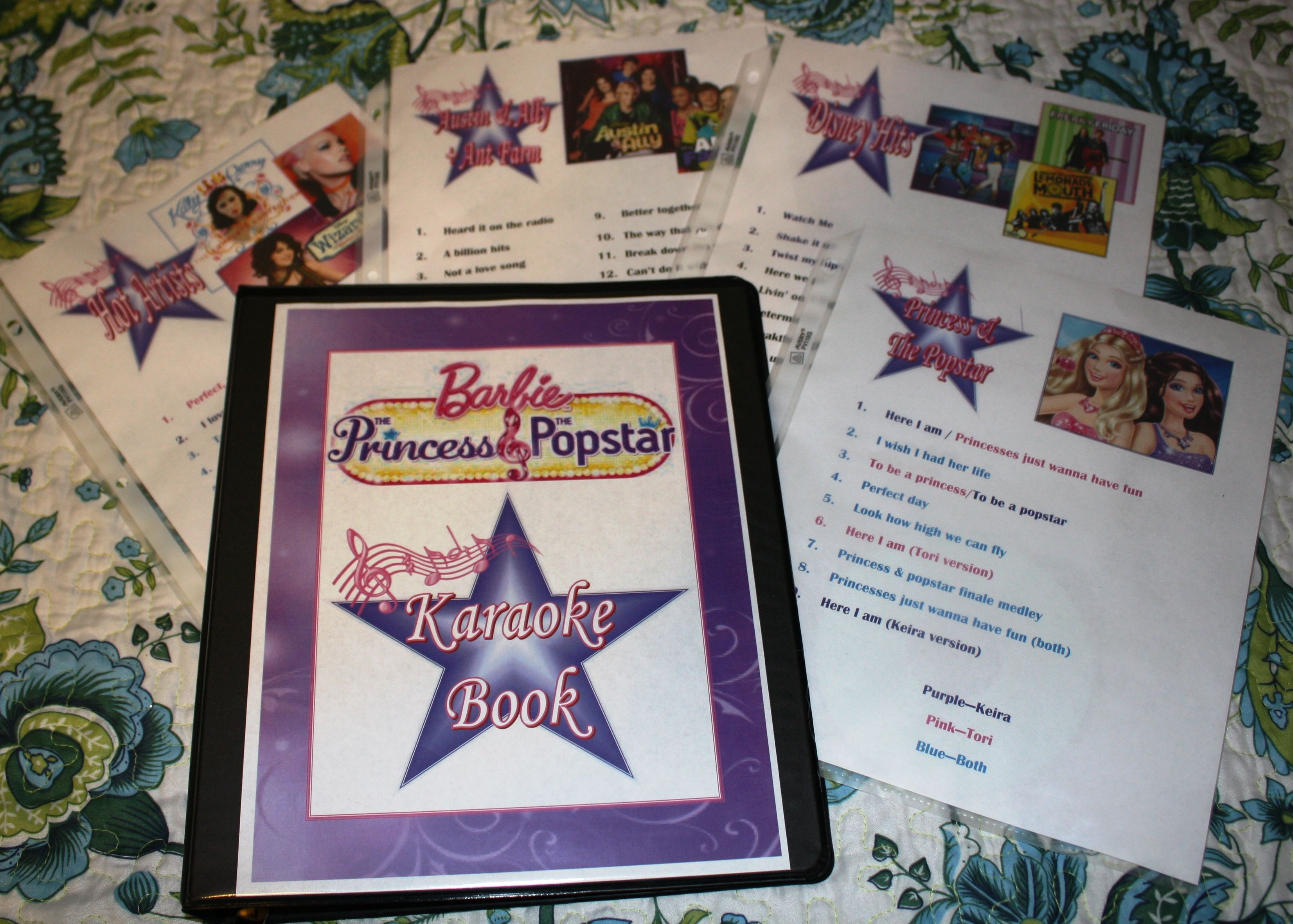 barbie princess and the popstar karaoke book for the party guests