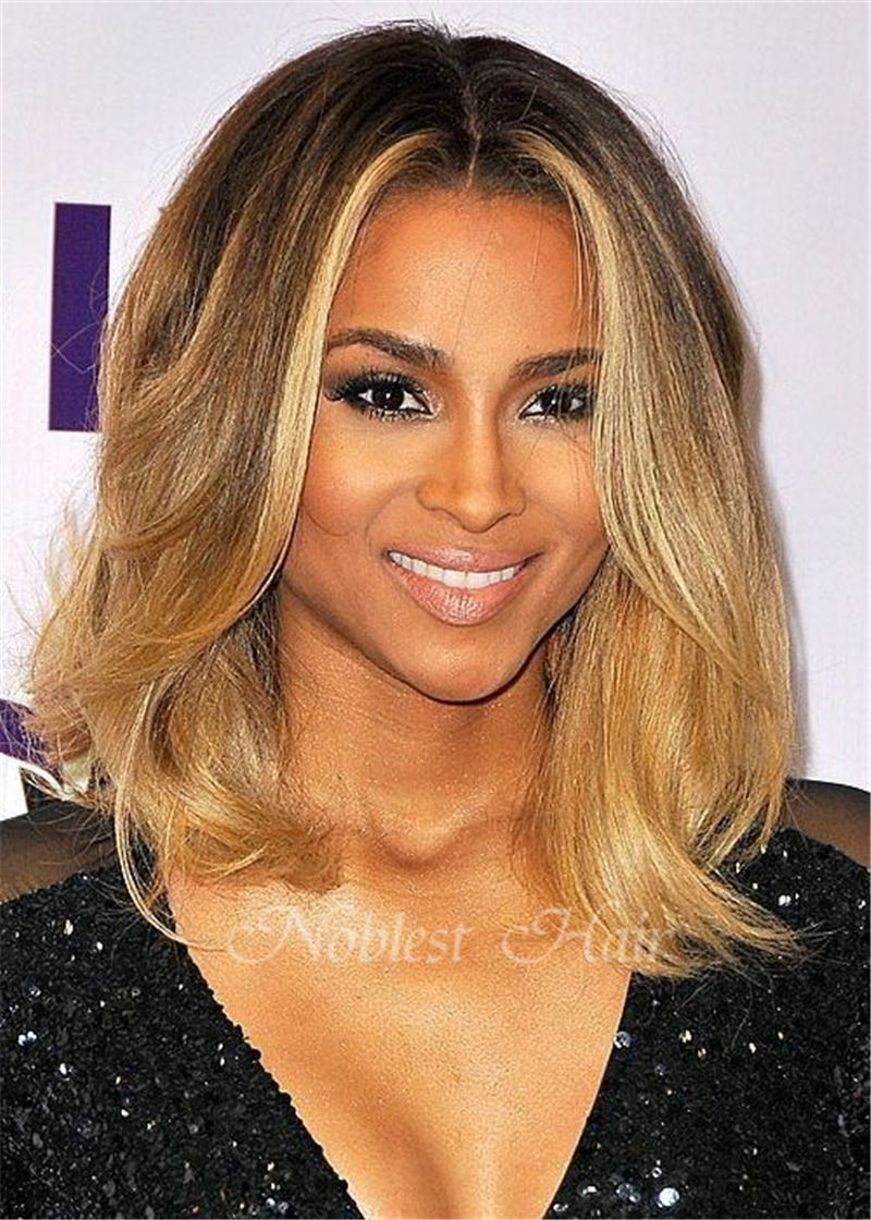 brazilian human hair glueless full lace wigs ombre color lace