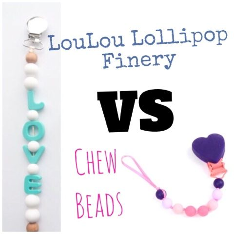 Pacifier Clips - Chewbeads and LouLouLollipop
