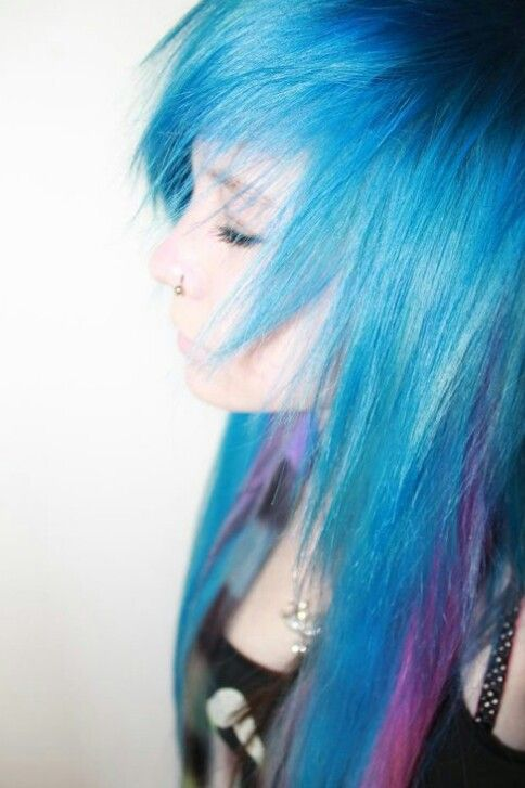 pink and blue scene hair