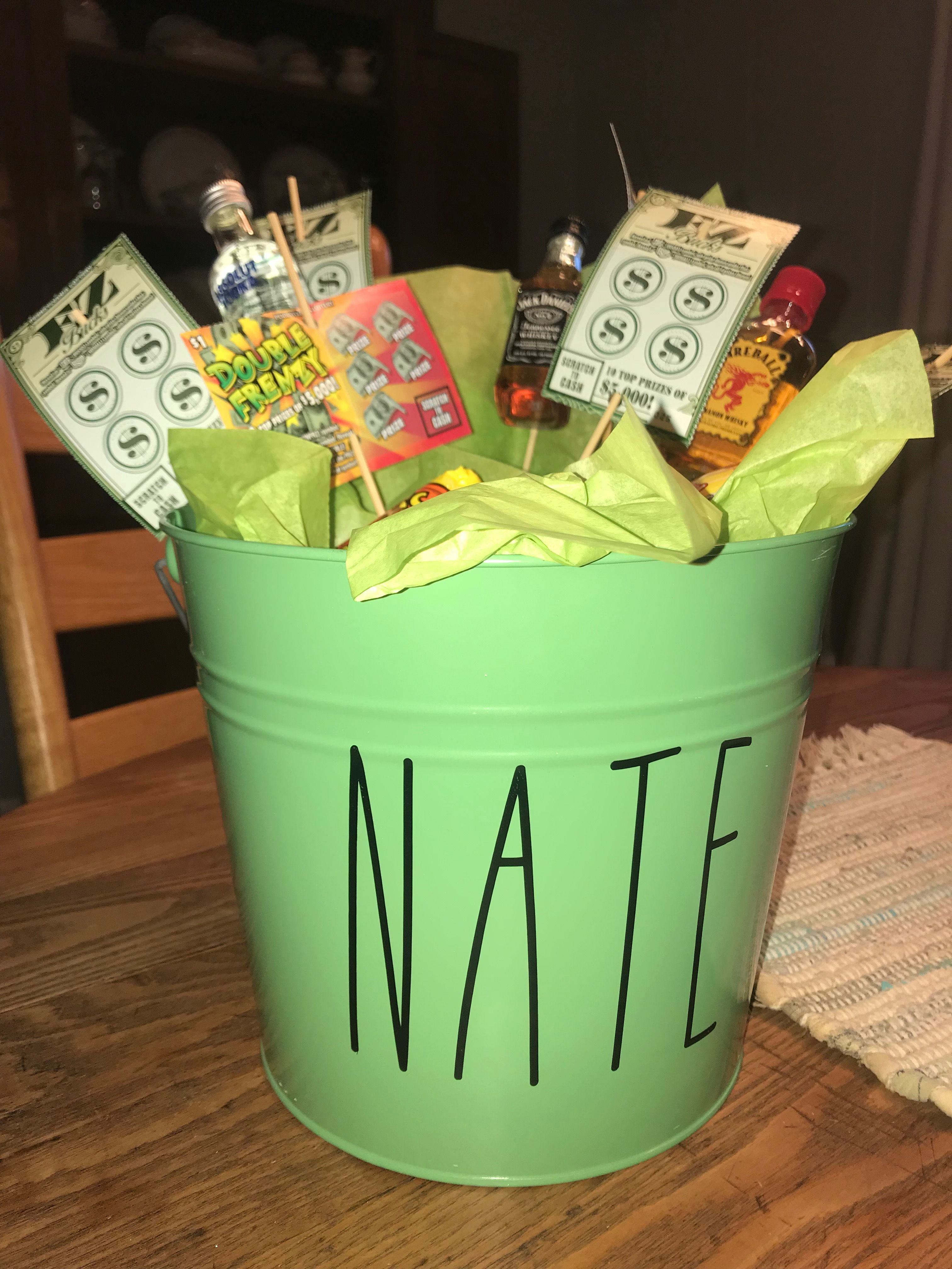 Easter Basket For Young Adult Male Scratch Off Tickets And Airplane