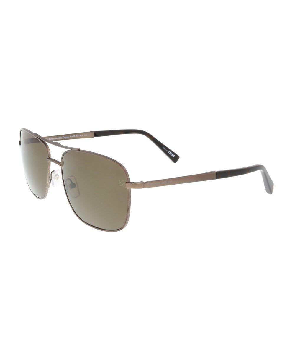 ERMENEGILDO ZEGNA Ez0021 37M Bronze Aviator Sunglasses'. #ermenegildozegna #sunglasses