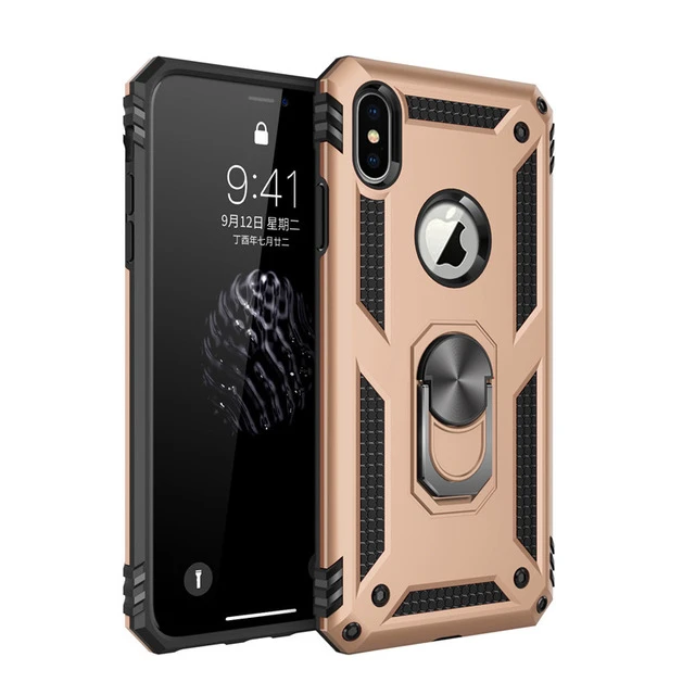 HAISSKY Armour Kickstand Magnetic Ring Grip Holder Case for iPhone 6, 6 Plus, 6S, 6S Plus, 7, 7 Plus, 8, 8 Plus, X, XR, XS, XS Max, 11, 11 Pro, 11 Pro Max, SE 2020