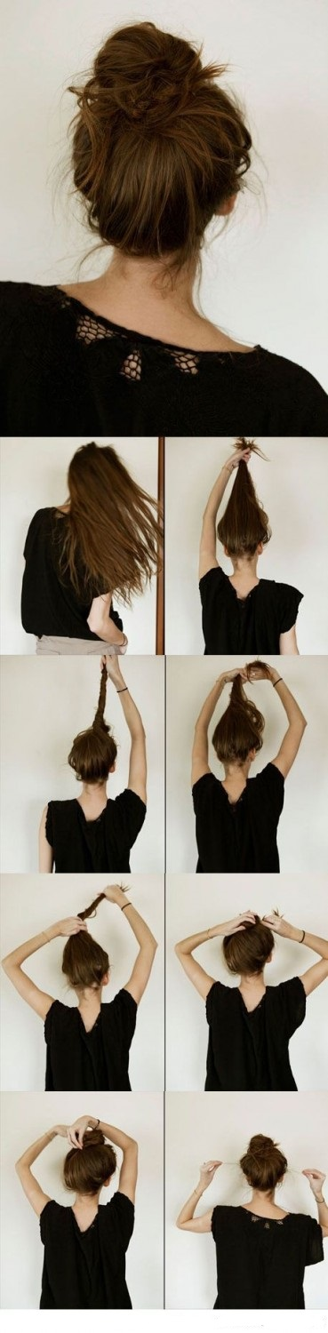 Casual Messy Bun Hairstyle Step By Step Hair Hair Styles Hair