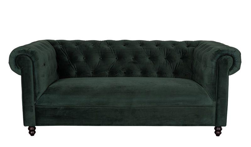 Chester Velvet Sofa Dark Green Fluwelen Sofa Groene Fluwelen Sofa Meubels