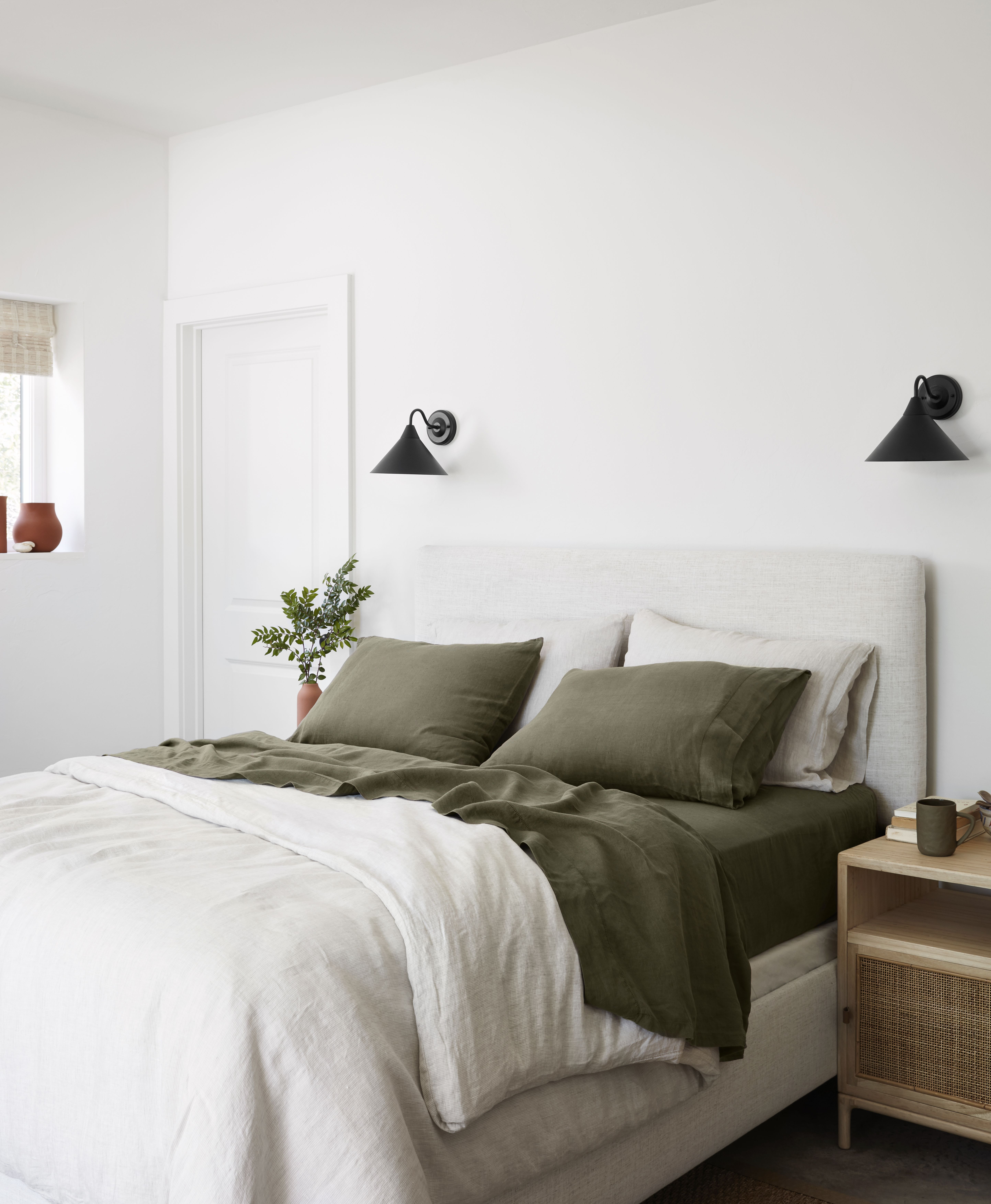 Luxe Bedding Essentials Made From The Finest French Linen Flax Each Piece Is Made In Portugal In A Fa With Images Home Bedroom Accent Furniture Living Room House Interior