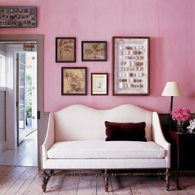 Pretty Interior: Decorate A Room WIth Pink Walls | Furniture ...