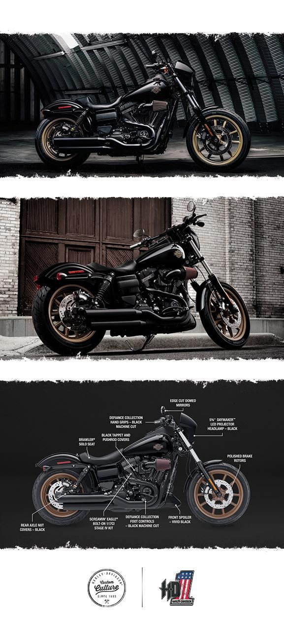 The Low Rider S Takes The Factory Custom Genre To A Raw And Powerful New Edge 2017 Harley Davidson Harley Dyna Motorcycle Harley Harley Davidson Motorcycles