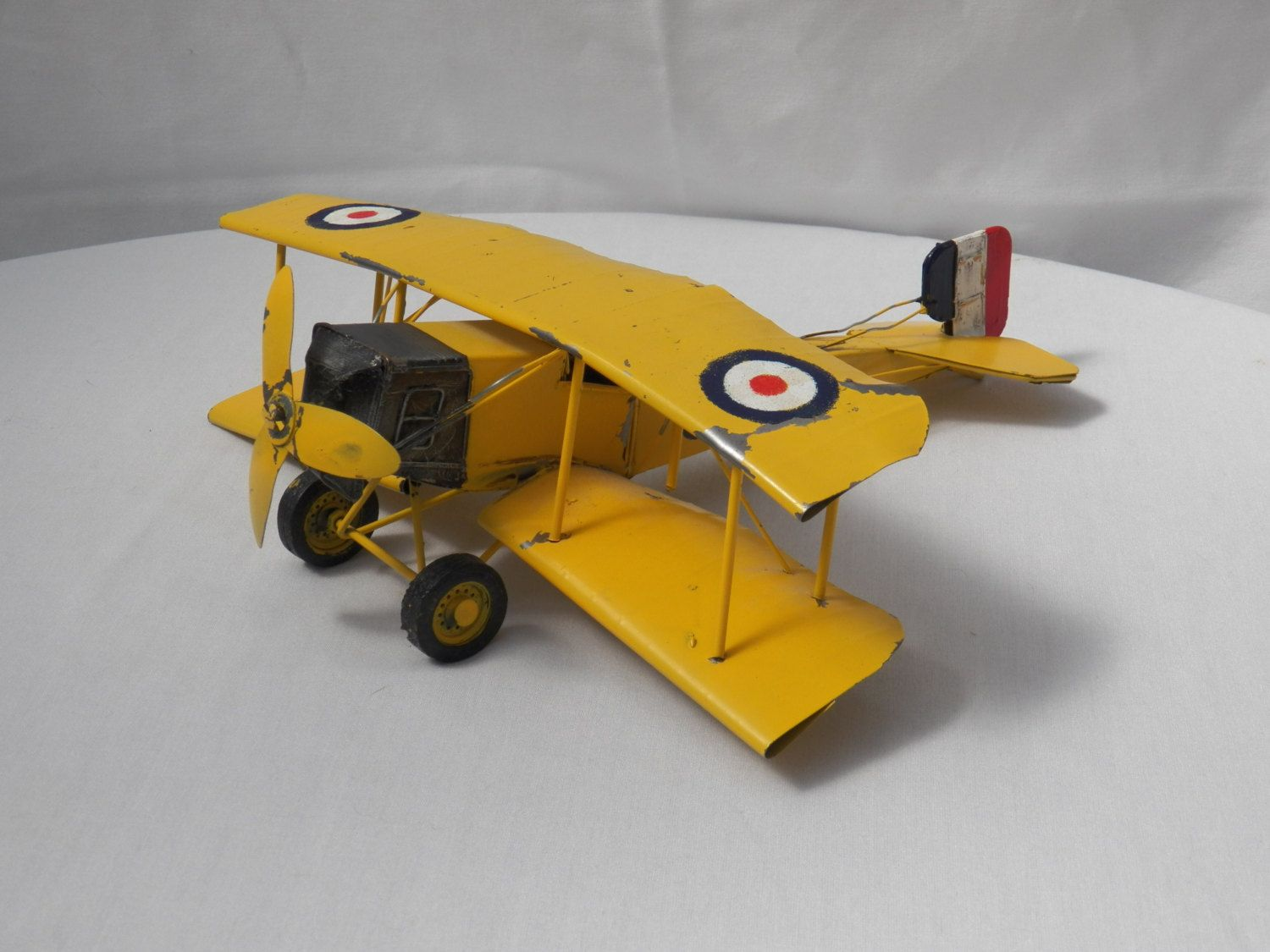WWI British Military Fighter Airplane - Painted Replica Model French ...