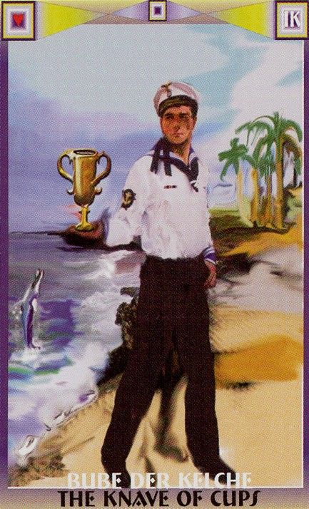Isabel Krsnic Tarot Page or Knave of Cups IK-B-11