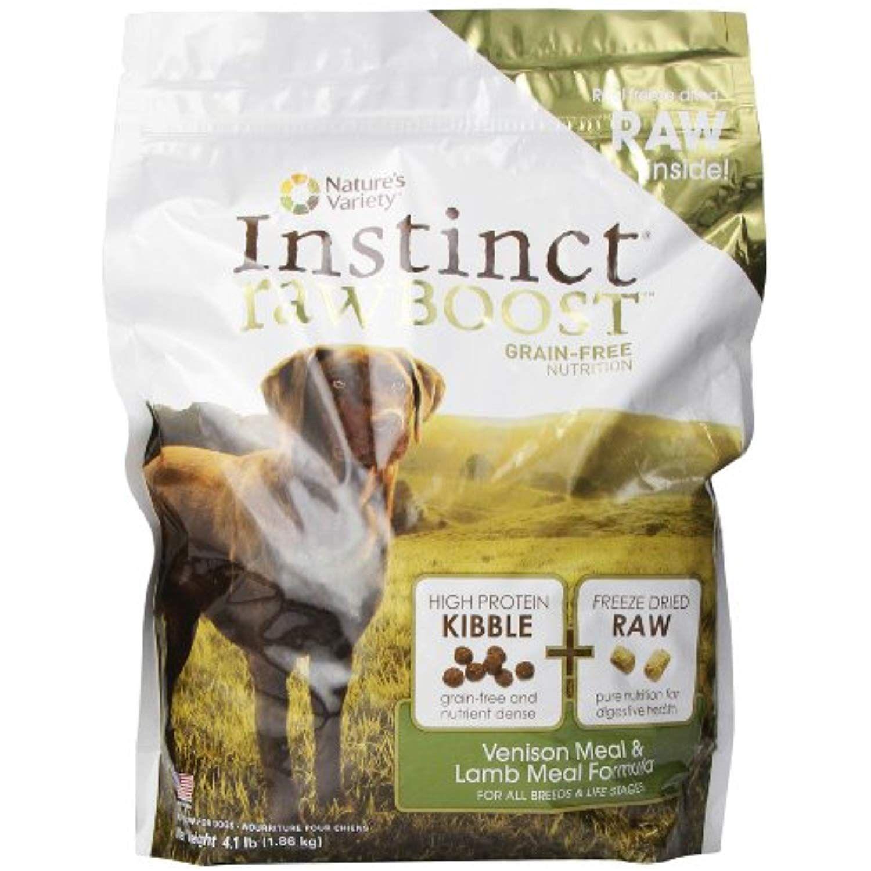 Instinct raw boost grainfree venison meal dogs venison