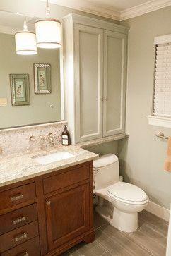 Over Toilet Cabinets Waynesboro Master Bath Renovation Transitional Bathroom Houston Curtis Lawson Homes
