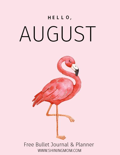 August Bullet Journal And Planner Free Printable #augustbulletjournal