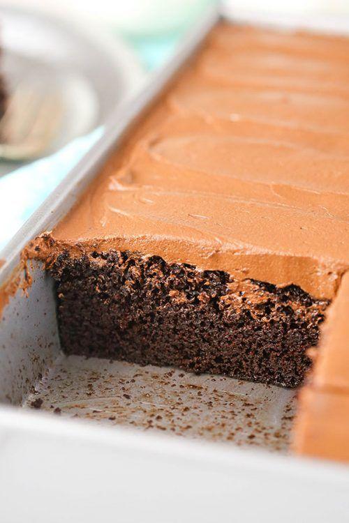Recipe for a good moist chocolate cake
