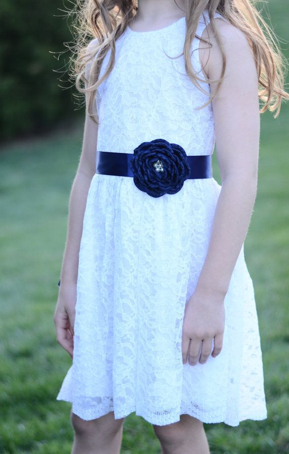 53b3f77faebe The Sleeveless Simply Grace White Lace Flower by KateGraceRose ...
