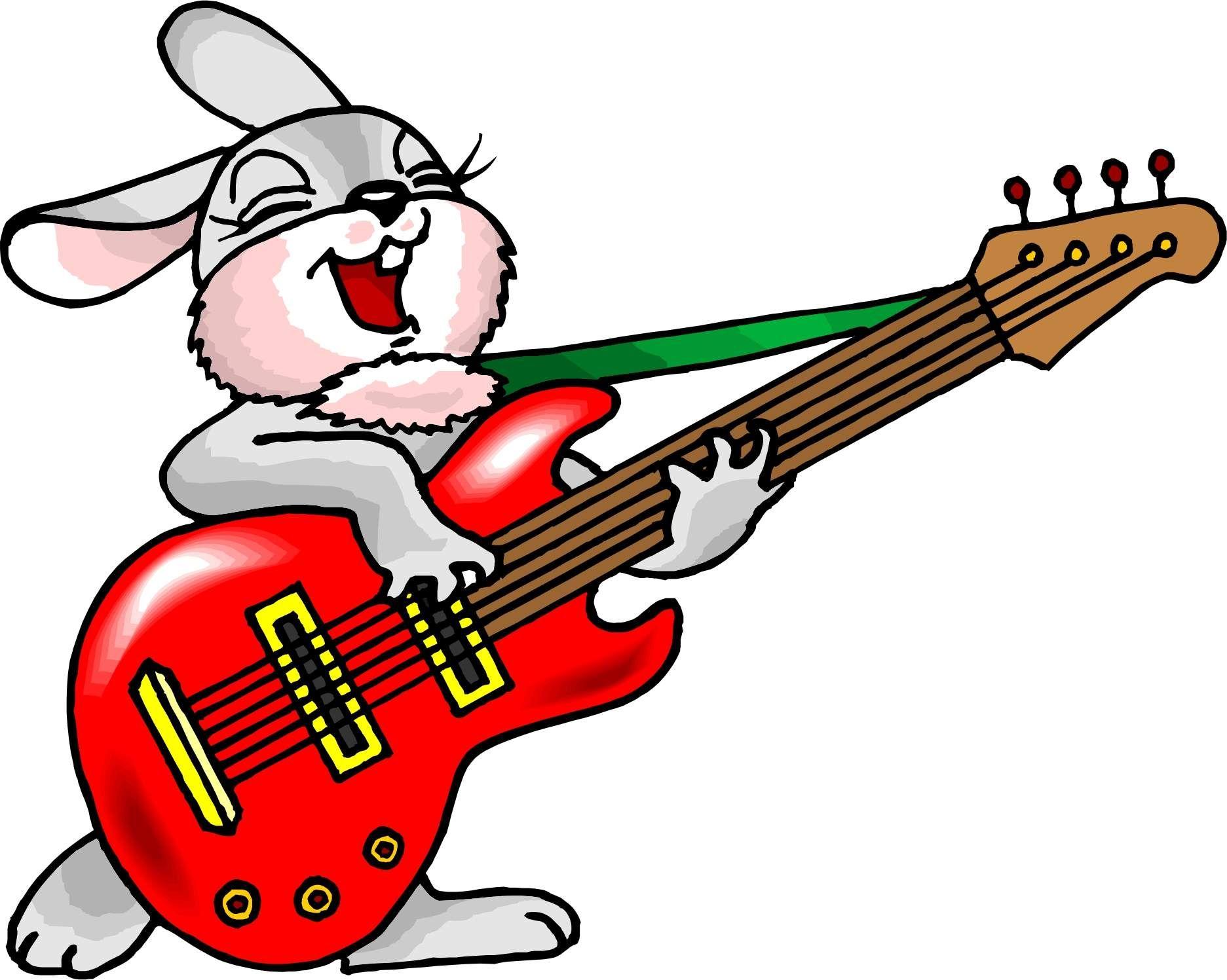Cartoon Rabbit Playing Guitar Jpg 831683 1873 1497 Guitar Drawing Easter Show Bunny Images