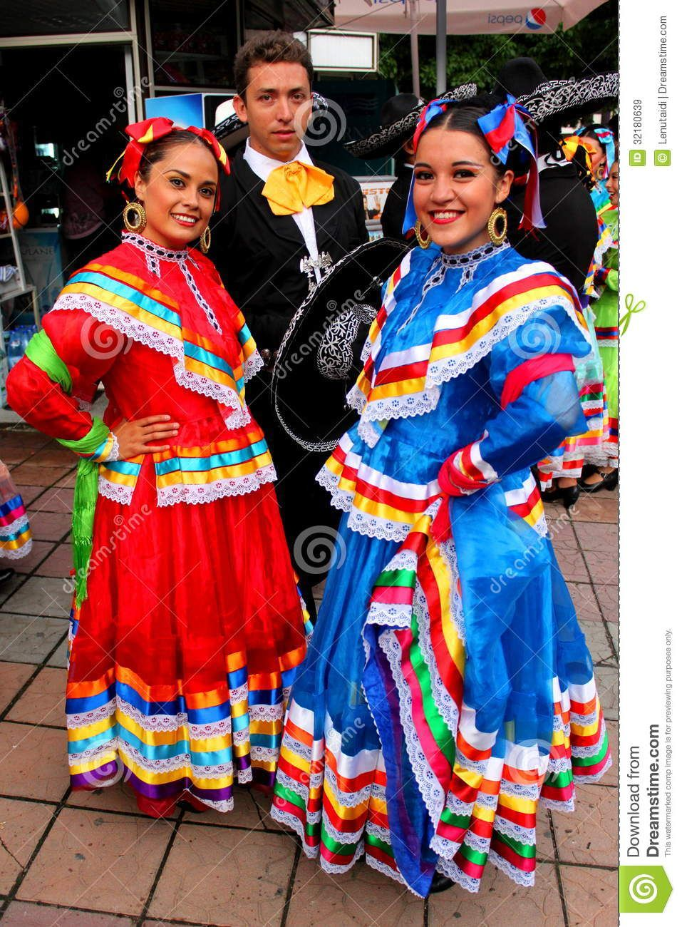 dress costume mexican dancer Traditional