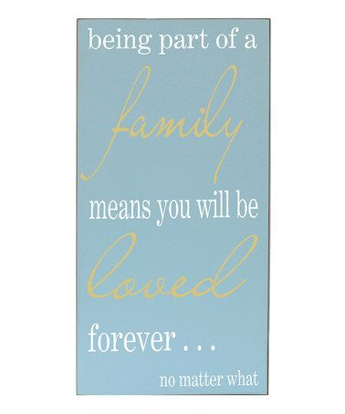 Take a look at this Bay Blue 'Family Means Love' Wall Sign by Vinyl Crafts on #zulily today!