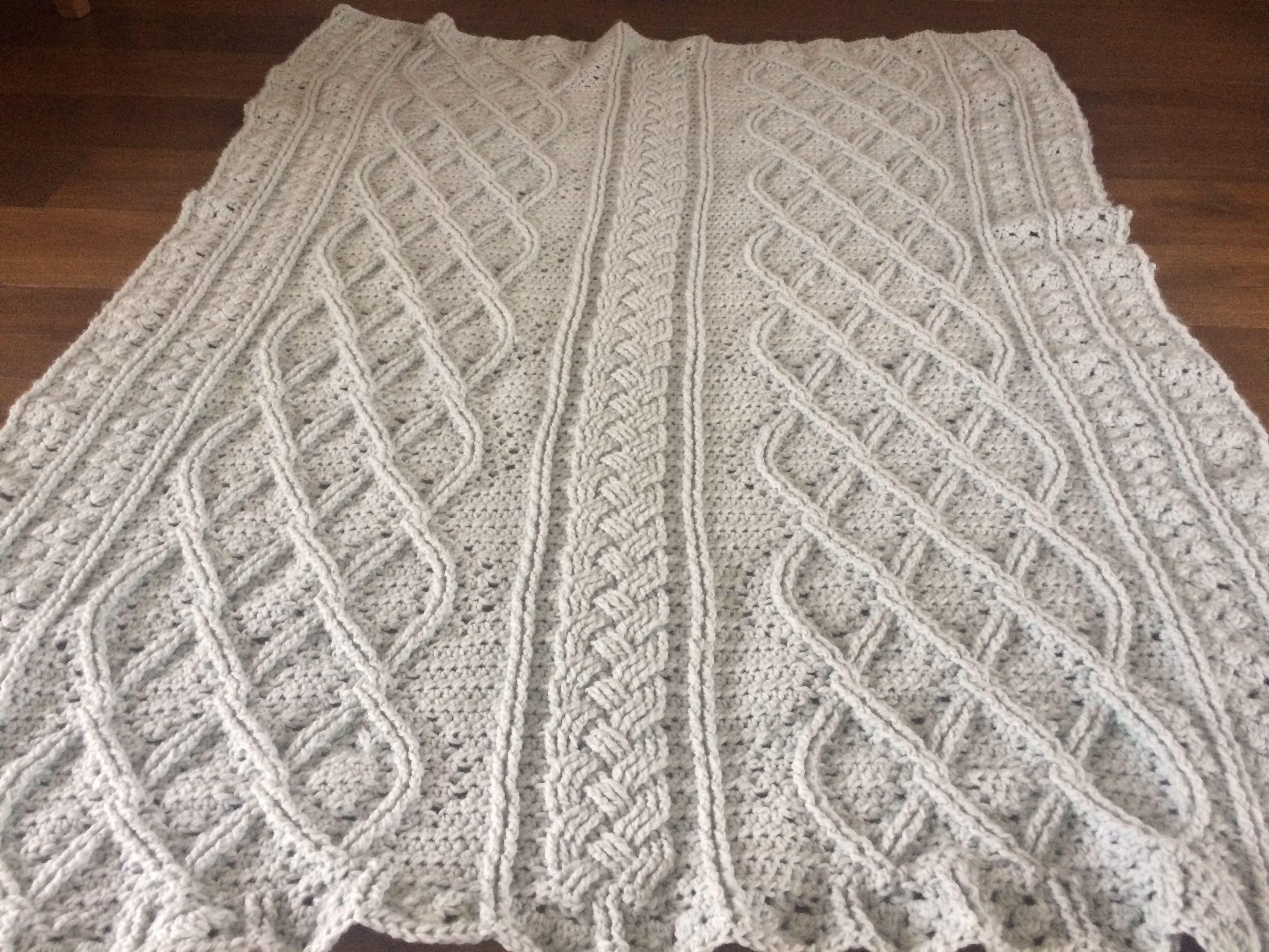 Plaid Uit Het Boek Kabels Haken Knitting Crochet Knit Crochet