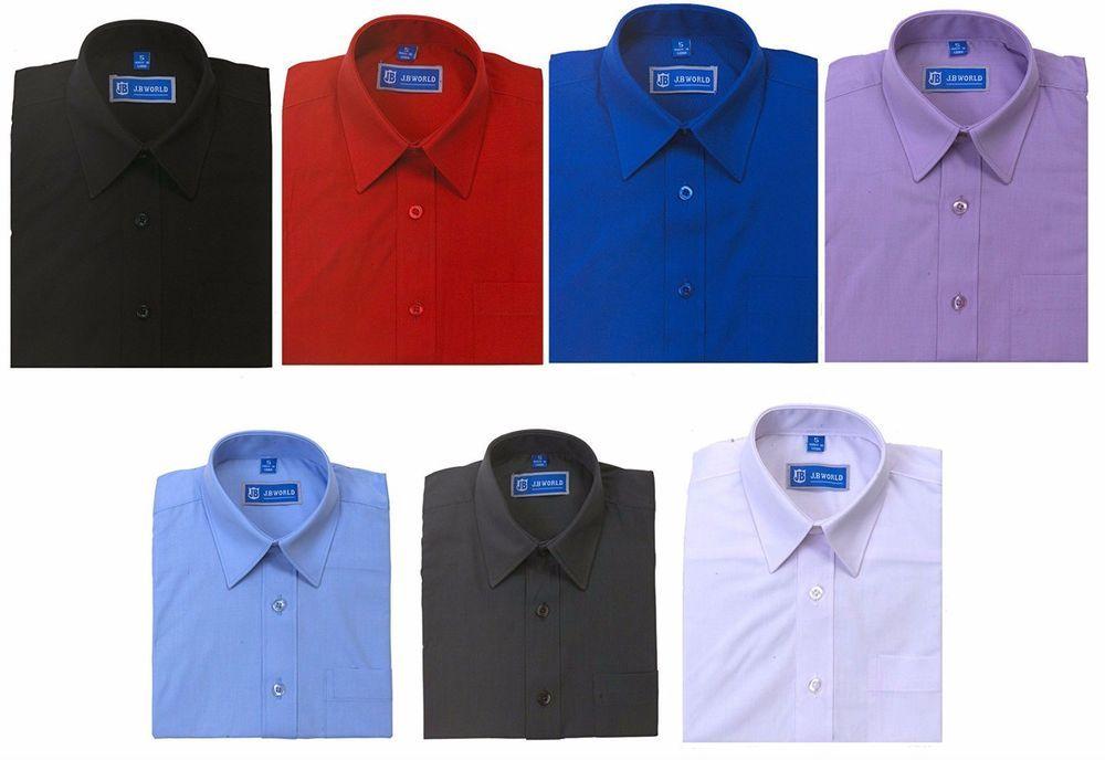 Details about Boys Dress Shirt Short Sleeve School Uniform ...