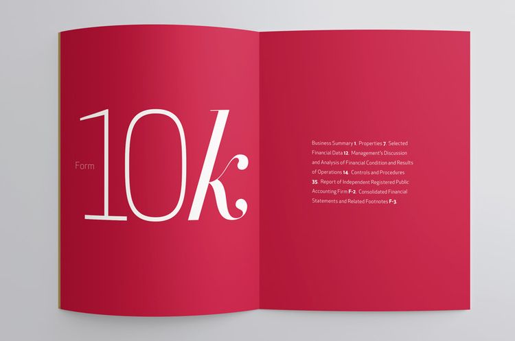 10k spread Annual report layout by Jody Worthington Project - financial statement layout
