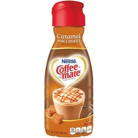 Coffee Mate Caramel Macchiato Liquid Coffee Creamer 32oz Pack Of