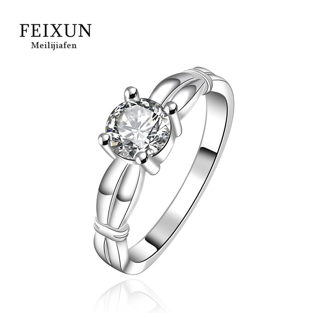 2016 Silver Plated Unique Vintage Ring Big Rings For Women Resin Classic Round Gift Fashion Big Rings For Women R607-8