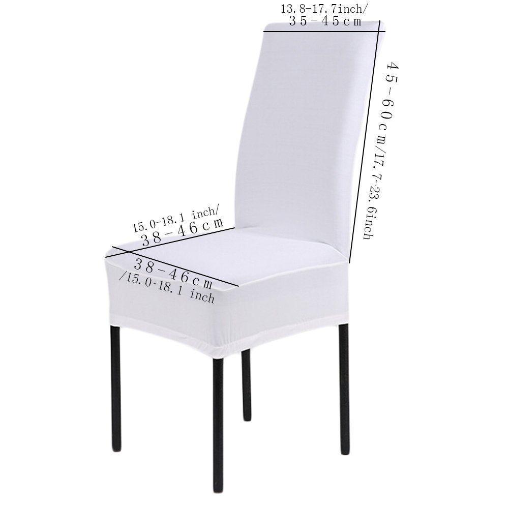 Amazon Com 6 X Removable Short Stretch Spandex Dining Chair Slipcovers Protector Super Capas Para Cadeira De Cozinha Capas Para Cadeiras Ideias Para Mobilia