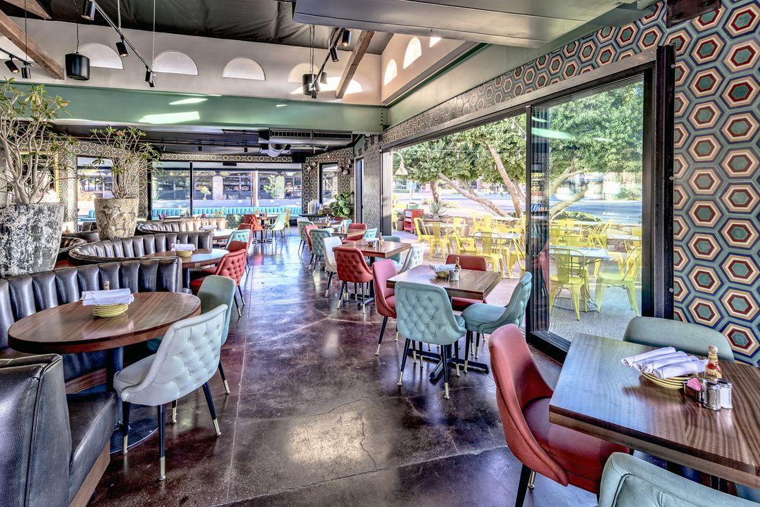 joyride taco house | restaurant design | adaptive reuse - brick