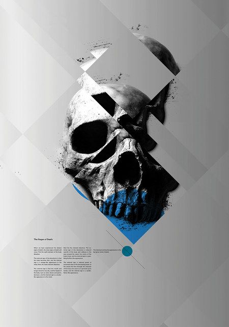 As a poster stand point, it is very attractive. The structural feeling is strong. The color use is also well considered. Two spots of blue lift the poster up a lot. I admire this designer's creativity that make one boring skeleton so meaningful.    Newman
