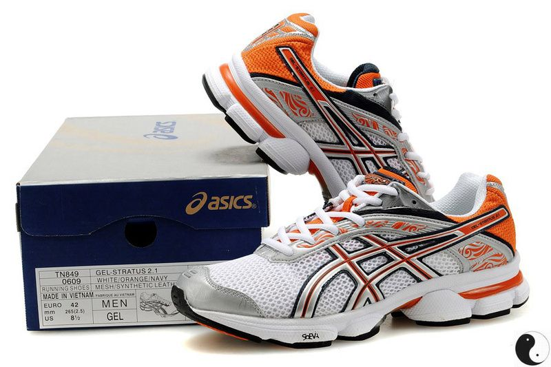 Asics Gel Stratus 2.1 White Orange Navy 0609