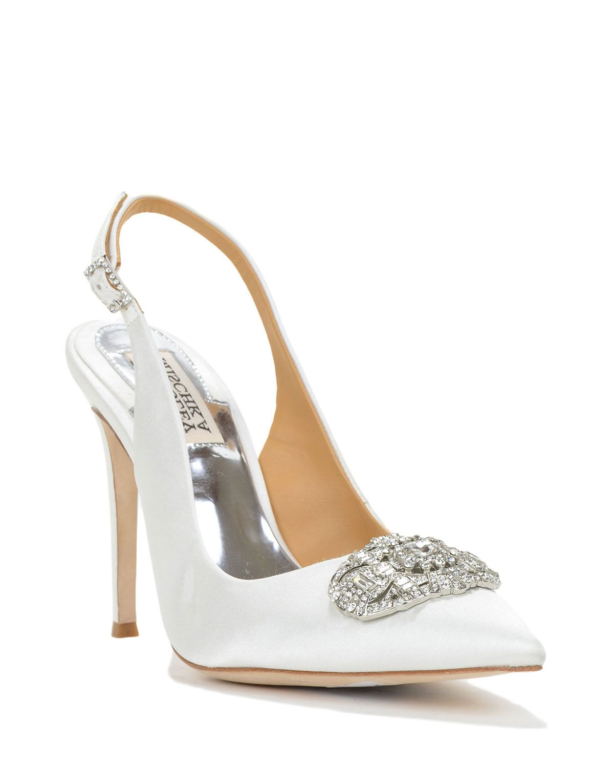 Sansa Satin Slingback Evening Shoe by Badgley Mischka