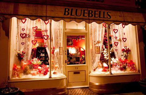 Valentines Day Visual Merchandising Window Display Flower Shop