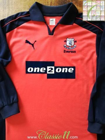online retailer 6d025 6778e Official Puma Everton 3rd kit long sleeve football shirt ...