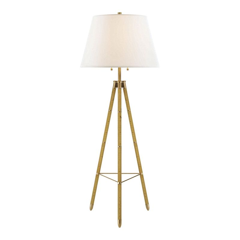 Limited production design ralph lauren tripod floor lamp birch h 66 inches