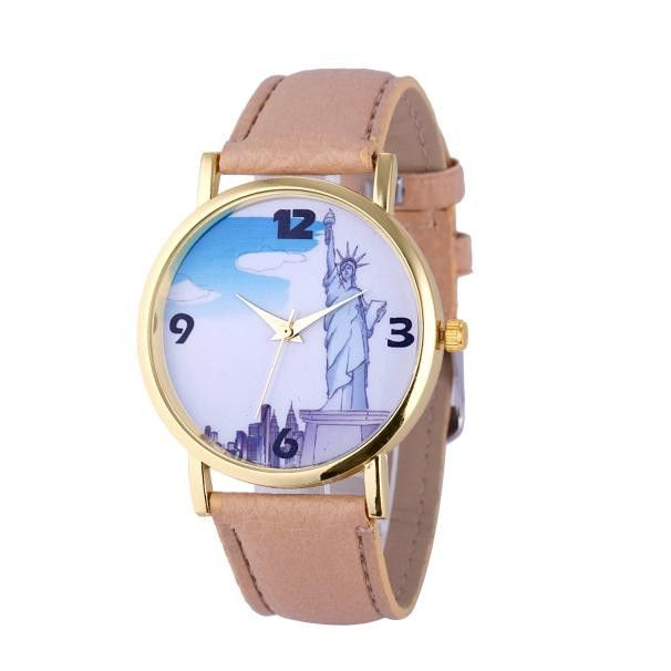 Women Watch Pattern Statue of Liberty Stainless steel