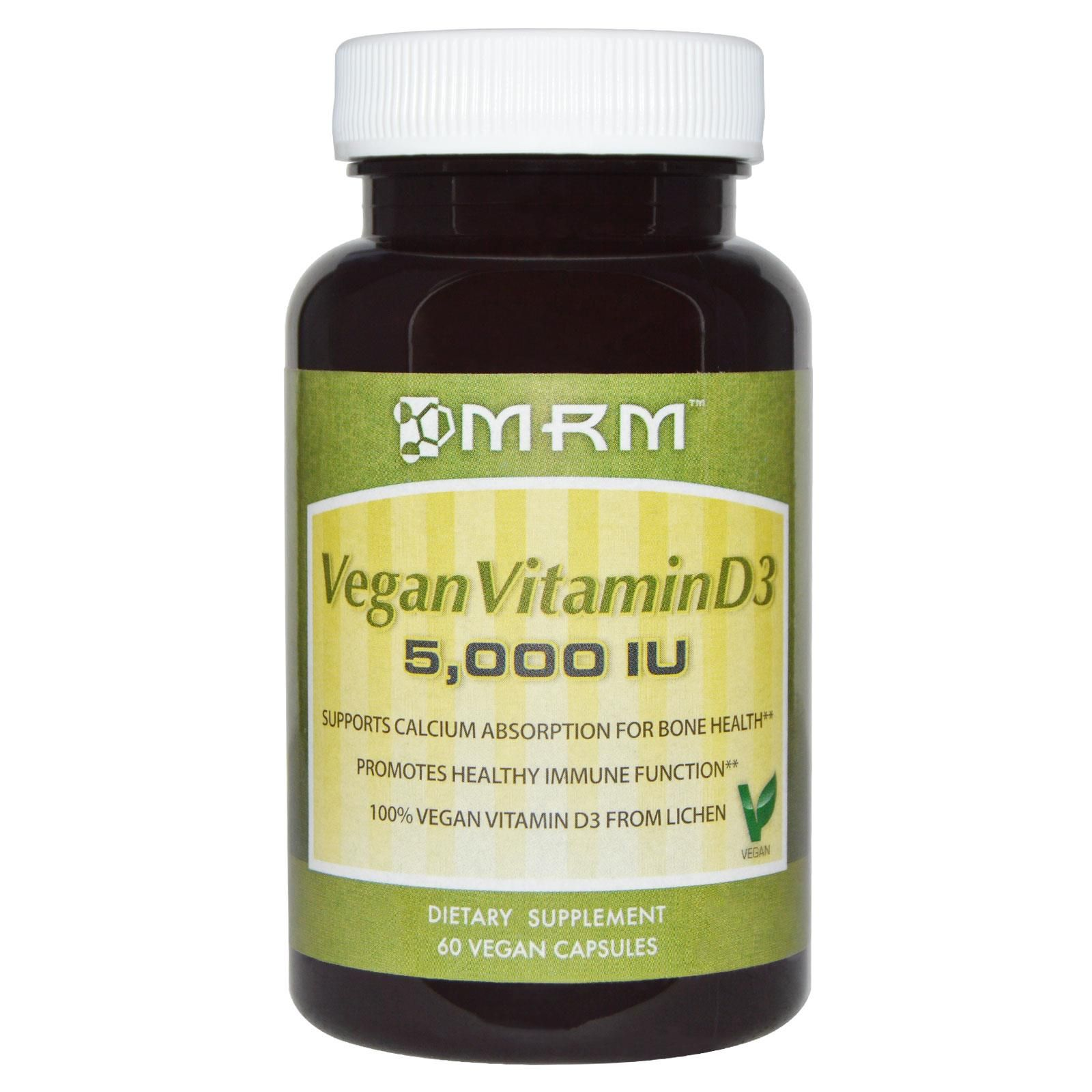 Mrm Vegan Vitamin D3 5 000 Iu 60 Vegan Capsules Vegan Vitamins Vitamins Vitamin D3