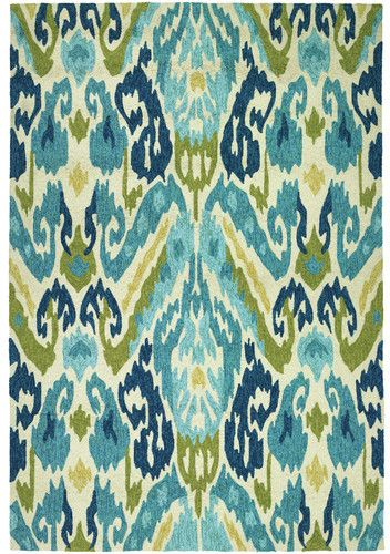 Bungalow Rose Delfzijl Hand-Woven Green/Blue Area Rug Rug