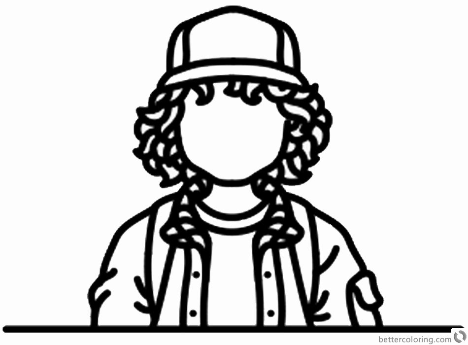 Stranger Things Coloring Book Unique Stranger Things Coloring Pages No Face Dustin Henderson By Stranger Things Tattoo Stranger Things Art Stranger Things