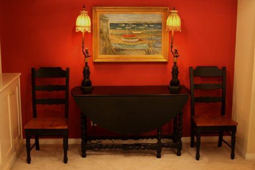 Lane Furniture Co 54 Round Gate Leg Table 4 Chairs