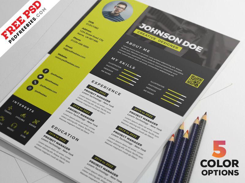 Awesome Resume Cv Design Psd Bundle Kreativer Lebenslauf Design Google