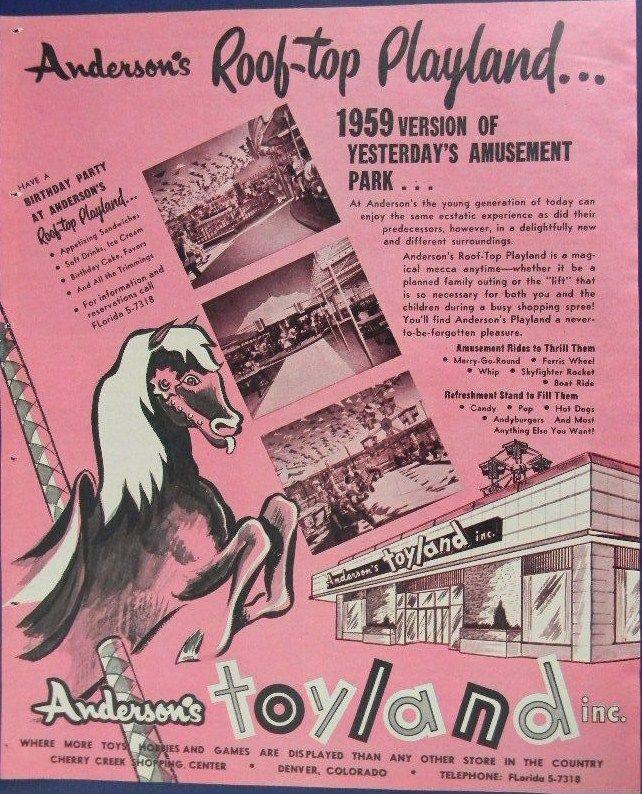 Oh, How I Loved This Store! 1959 Anderson's Toyland Roof