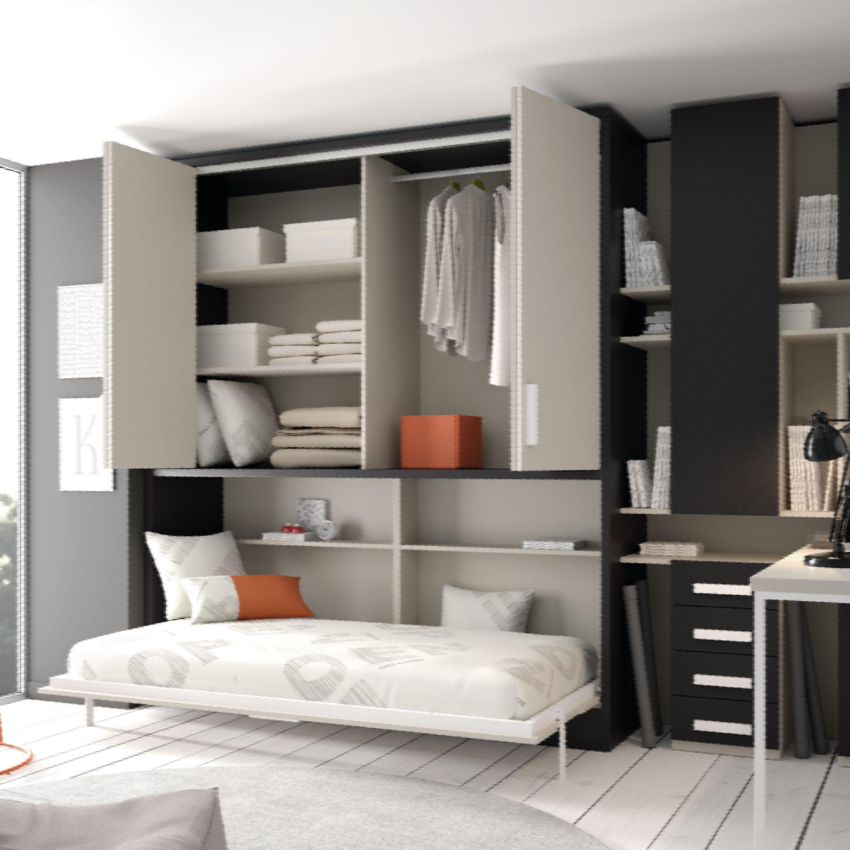 Que Os Parece Esta Cama Abatible Habitaciones Pequenas Muebles Cama Dormitorios