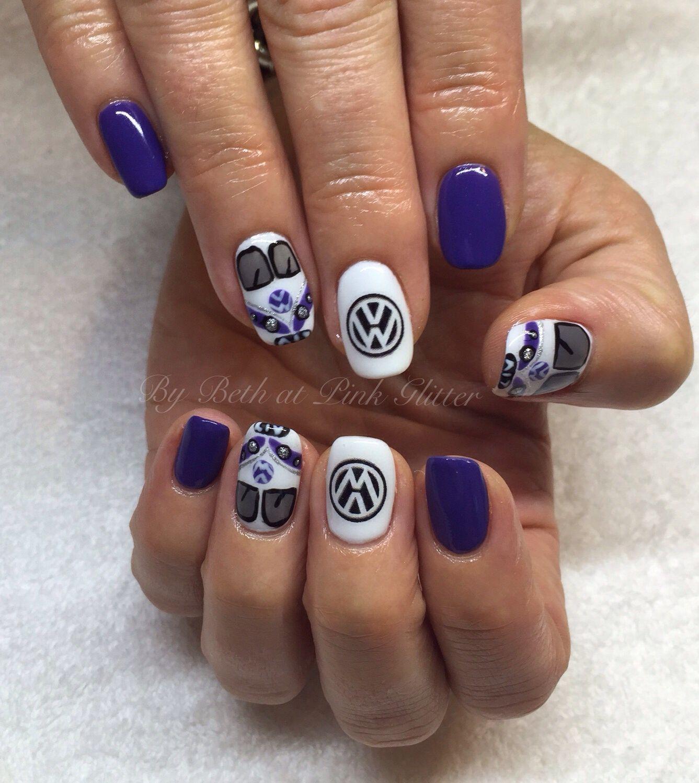 VW Kombi Van Nails | Nail art | Pinterest