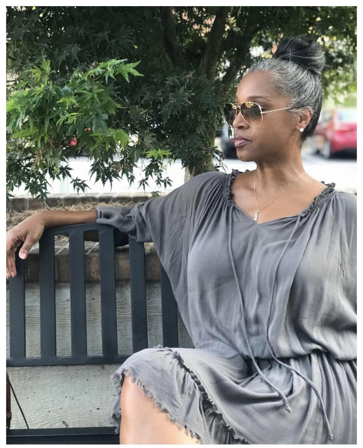 Brand Ambassador Atlanta Beautiful gray hair, Grey hair