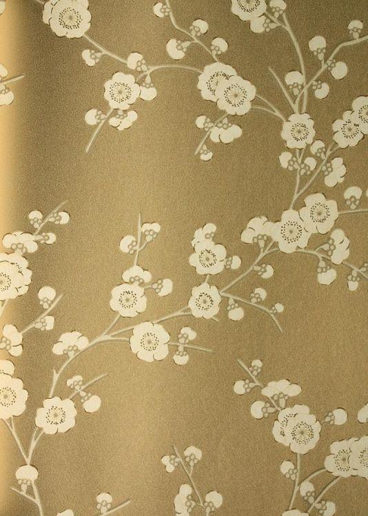 Floral Blossom Wallpaper By Gp J Baker Gold Metallic Wallpaper Cream Wallpaper Metallic Wallpaper Gold Metallic Wallpaper Contemporary gold flower wallpaper images